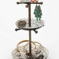 Medallion Jewelry Stand- Black & White One