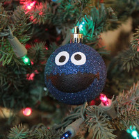 Cookie Monster Hand Painted Christmas Ornament