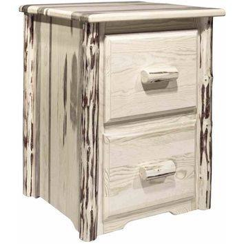 Montana Woodworks Montana Collection 2 Drawer File Cabinet