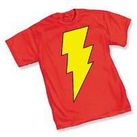 Captain Marvel Shazam! Symbol Red Adult T-Shirt  - Marvel Comics - | TV Store Online