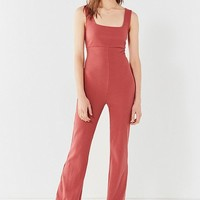 UO Empire-Waist Ribbed Knit Jumpsuit | Urban Outfitters