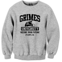 Grimes University, Secure Your Future Crewneck - funny walking dead tshirt zombie daryl dixon grimes tee uni-sex