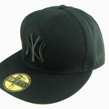 ESBON New York Yankees New Era MLB Authentic Collection 59FIFTY Cap All-Black