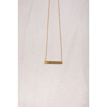 Cecilia Gold Dainty Bar Necklace