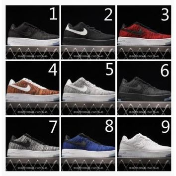 Nike AF1 Flyknit Low Nike Flight Knitting Force Summer Air Force One with low breathability
