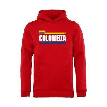 Licensed Sports Colombia Fanatics Branded Youth Devoted Pullover Hoodie - Red KO_20_2