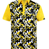 Camo ProCool Men's Golf Shirt (Yellow)