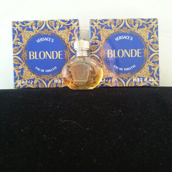 Rare Versace Blonde Perfume * Collectible Miniature Perfume Bottle * 1990's * 1995 Parfum