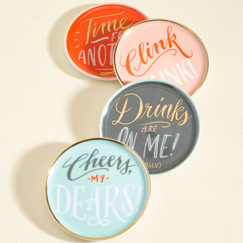 Treat, Drink, and Be Merry Coaster Set | Mod Retro Vintage Kitchen | ModCloth.com