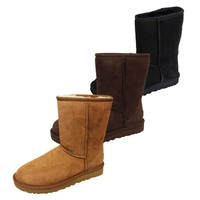 UGG CLASSIC SHORT II WOMENS TWINFACE SHEEPSKIN SUEDE BOOTS IN THREE COLOURS