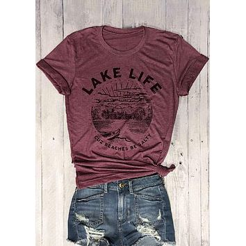 Lake Life, Cuz Beaches Be Salty, T-Shirt