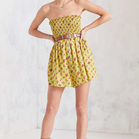 Kimchi Blue Meadow Smocked Bodice Romper - Urban Outfitters