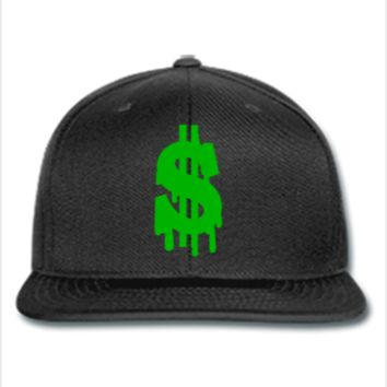 dollar embroidery snapback hat