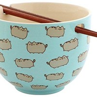 "Pusheen ""Rice Bowl with Chopsticks"""