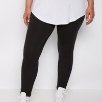 Plus Black High Waist Soft Knit Legging