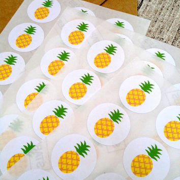 96 pineapple stickers. Pineapple seals. Envelope seals pineapple  fruit sticker. Pineapple envelope seal. Wedding invite seal
