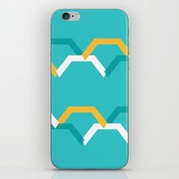 Teal Steps iPhone Skin by spaceandlines