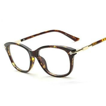 Fashion Crystal Decration Eyewear Brand Designer Women Square Glasses Frames Retro Lady Eyeglasses