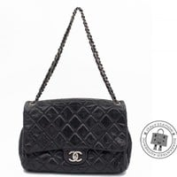 Authentic Chanel Classic Cc Flap Black Calfskin Shoulder Bag Shw MPRS