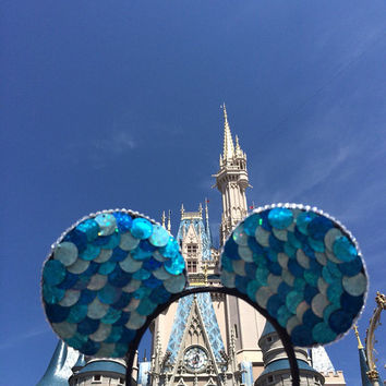 Sparkly blue disney ears