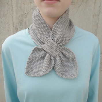 Knitting Pattern Ascot Scarf : Shop Knitted Ascot Scarf on Wanelo