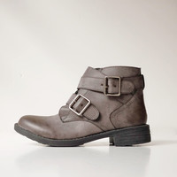 Wave Buckle Boots