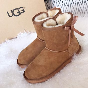 UGG Gita Mini Butterfly Knotted Snow Boots
