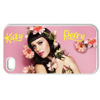 Custom Katy Perry Case for iPhone 4 4s Fits Back Cover Cases PC3400
