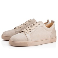 Christian Louboutin CL Louis Junior Men's Flat Colombe Suede 13s Sneakers Best Deal Online