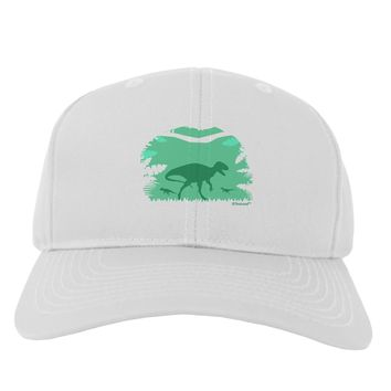 Dinosaur Silhouettes - Jungle Adult Baseball Cap Hat by TooLoud