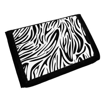 Zebra Print Trifold Wallet All Over Print
