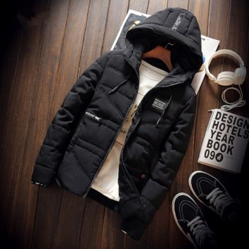Men's Fashion Padded Men Cotton Winter Korean Jacket Coat Outfit [9072771267]
