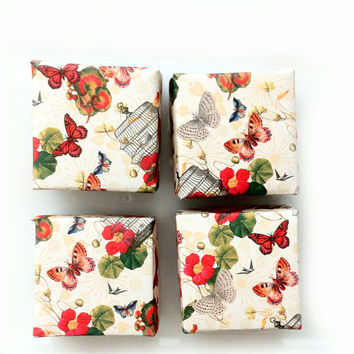 Butterfly Origami Boxes - Gift Paper Boxes - Asian Inspired - Butterflies Flower - Party Favor Boxes - Eco-friendly - Set of 4