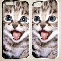 Smile Cat F0082 iPhone 4S 5S 5C 6 6Plus, iPod 4 5, LG G2 G3, Sony Z2 Case