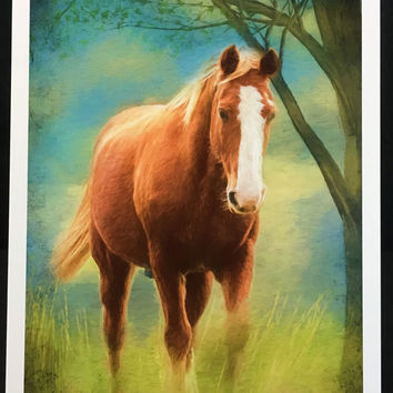Horse lover,Horse Photography, Horse Art, Nursery Art, Palomino, Equine,Painted, rural, natural