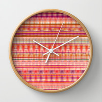 Abstract Bandana Wall Clock by Nika