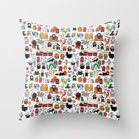 Kawaii Harry Potter Doodle Throw Pillow by KiraKiraDoodles