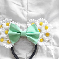 Daisy Floral Ears - Pick Your Own Bow!