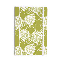 "Gill Eggleston ""Protea Olive White"" Green Flowers Everything Notebook"