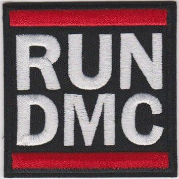 RUN-DMC Iron-On Patch White Letters Logo