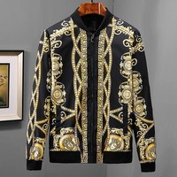 Versace Women or Men Fashion Casual Embroidery Cardigan Jacket Coat