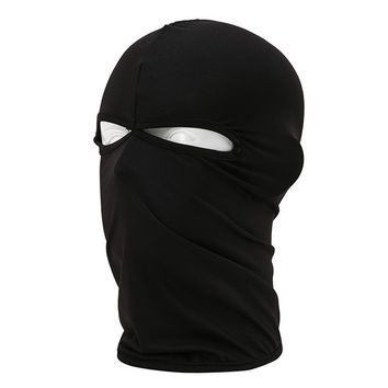 Women Men Outdoor Full Cover 2 Holes Face Mask Head Neck Balaclava Cycling Bike Hijab Caps Y8