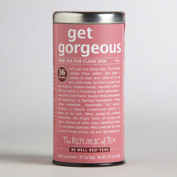 The Republic of Tea Get Gorgeous Be Well Tea Tin, 36-Count