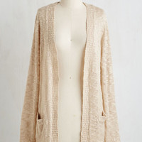 Long Long Sleeve Breakfast in Bedfordshire Cardigan in Oatmeal