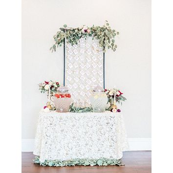 Chiffon Rosette Tablecloth