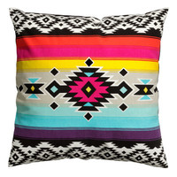 H&M - Cotton Cushion Cover - Multistriped