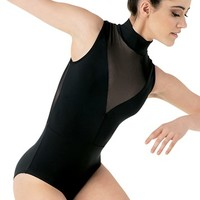 Plunge Neck Illusion Dance Leotard | Balera™