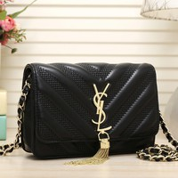 Ysl Women Shopping Leather Chain Shoulder Bag Satchel Crossbody