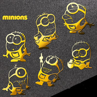 3pcs/lot Hot movie Minions reactor metal stickers 3D Nickel Alloy Metal Sticker  phone stickers Car Computer sticker