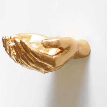 Helping Hands, Wall Decor, Hand Holder, White Hands, Hand, Wall Shelf, Hand Wall Decor, Quirky Decor, Hand Sculpture, Hand Wall Hook,